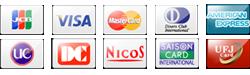 クレジットカードでのお支払いが可能です。